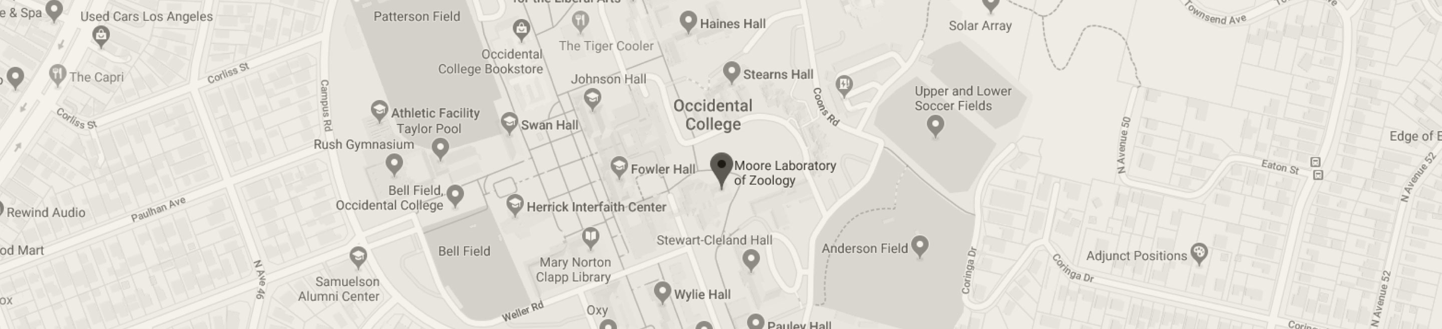 Google Map Screenshot of Moore Lab Location